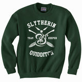 Malfoy 07 Slytherin KEEPER Quidditch Team Unisex Crewneck Sweatshirt (Adult) PA New