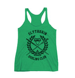 Slytherin Dueling Club Bw Ink Triblend Racerback Women Tank Top