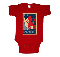 Vegeta Pride Infant Baby Rib Lap Shoulder Creeper Onesie Bodysuit