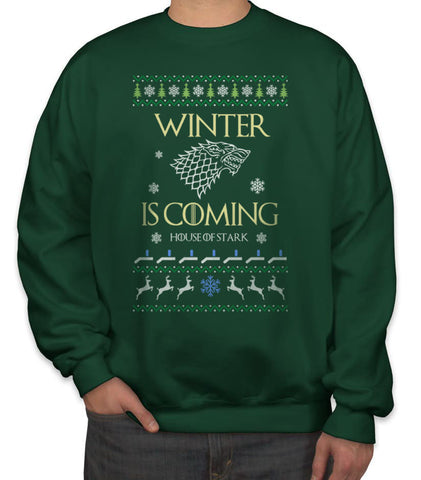Winter Is Coming House of Stark Ugly Sweater Unisex Crewneck Sweatshirt Sweater Jumper Adult