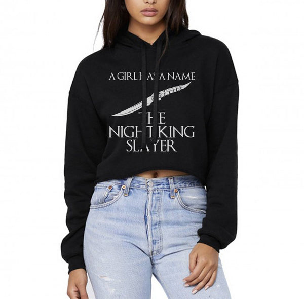 A Girl Has A Name Night King Slayer Cropped Hoodie