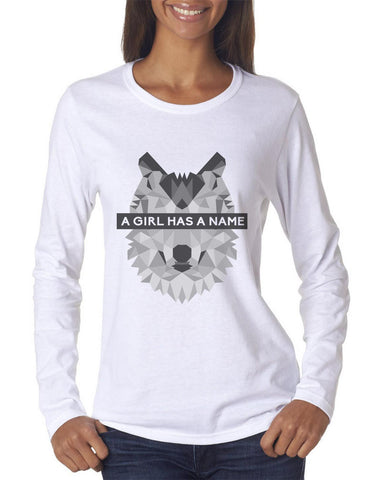 A Girl Has A Name Long sleeve T-shirt for Women - Meh. Geek - 1
