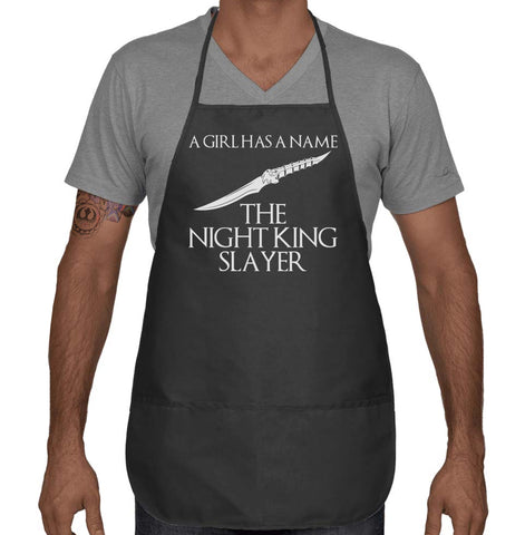 A Girl Has A Name Night King Slayer Two Pocket Apron APR51