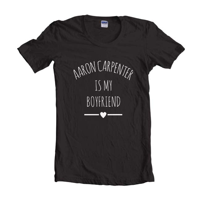 Aaron Carpenter Is My Boyfriend LOVE Unisex T-shirt Women - Meh. Geek