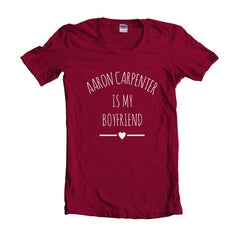 Aaron Carpenter Is My Boyfriend LOVE Unisex T-shirt Women - Meh. Geek - 5