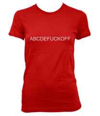 abcdefuck off Women T-shirt Tee