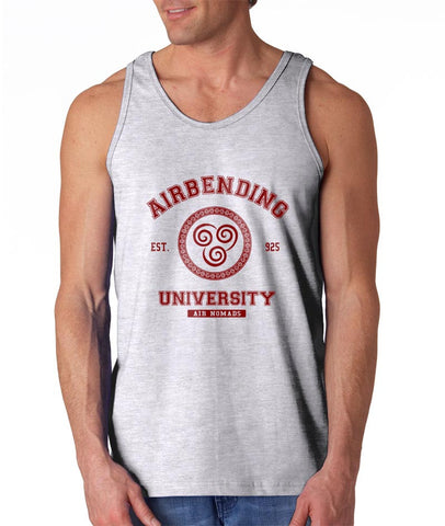 Airbending University Maroon Ink print Avatar Air Bender Men Tank Top