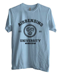 Airbending University Black ink print Avatar Air Bender Men T-shirt - Meh. Geek