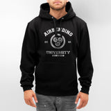 Airbending University White ink print Avatar Air Bender Unisex Pullover Hoodie - Meh. Geek