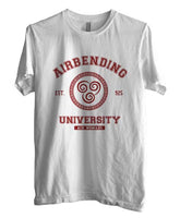 Airbending University Maroon ink print Avatar Air Bender Men T-shirt