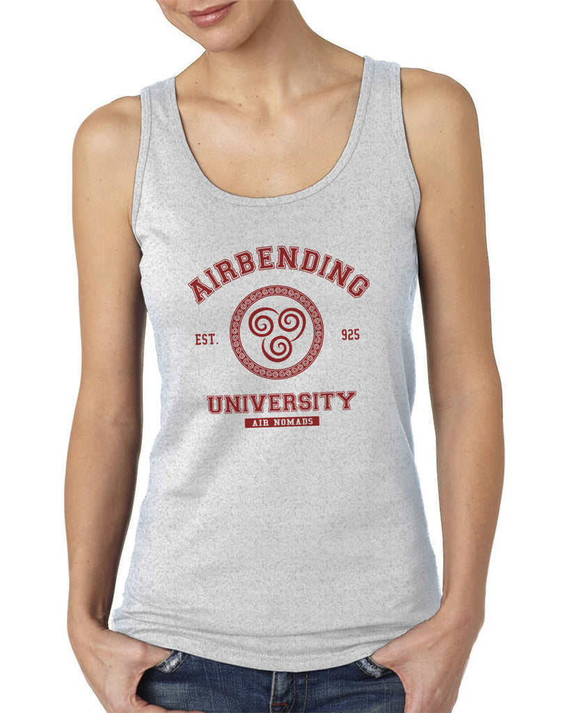 Airbending University Maroon Ink print Avatar Air Bender Women Tank top