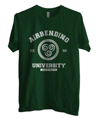 Airbending University White ink print Avatar Air Bender Men T-shirt - Meh. Geek