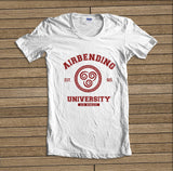 Airbending University Maroon ink print Avatar Airbender Women T-shirt