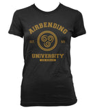 Airbending University Yellow ink print Avatar Airbender Women T-shirt