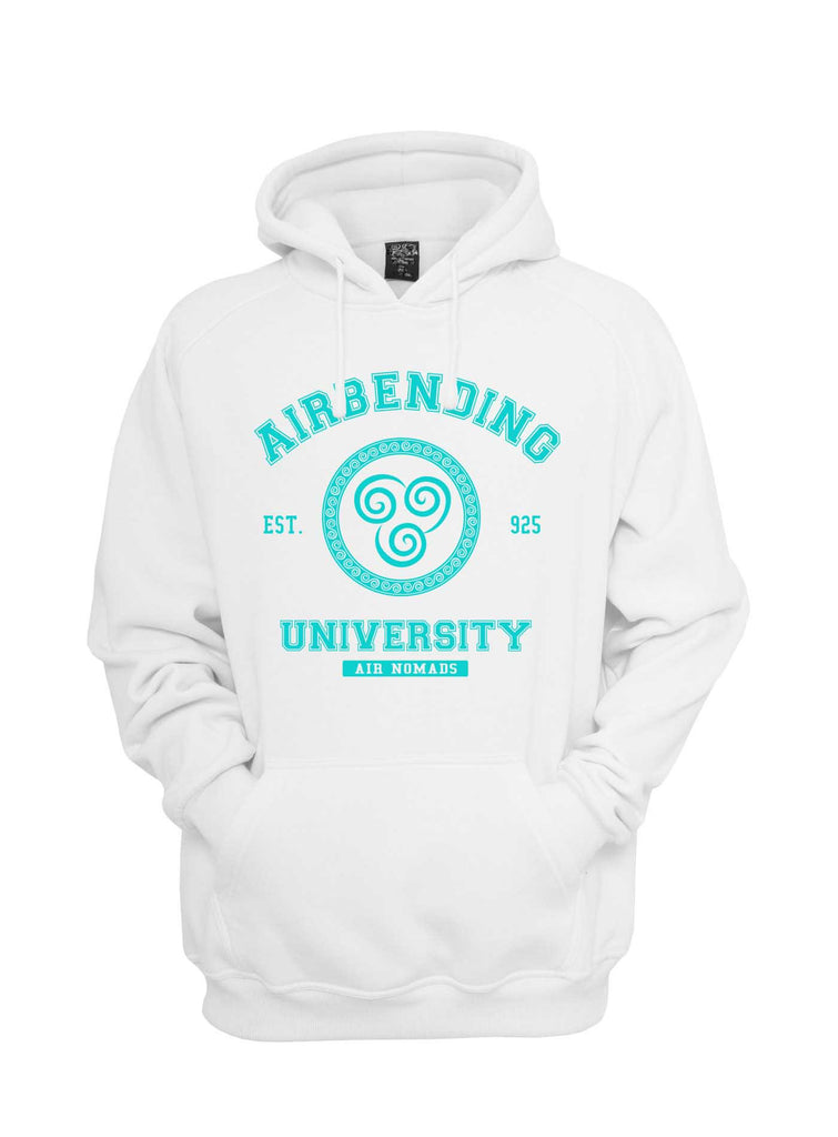 Airbending University Blue ink print Avatar Air Bender Unisex Pullover Hoodie - Meh. Geek