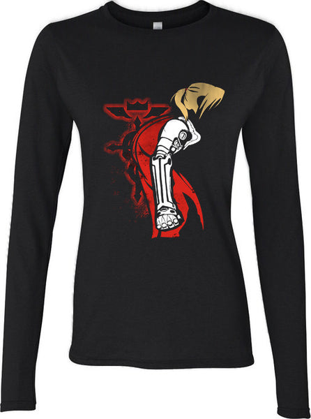Alfonso Edward elric Fullmetal Alchemist State Long sleeve T-shirt for Women - Meh. Geek
