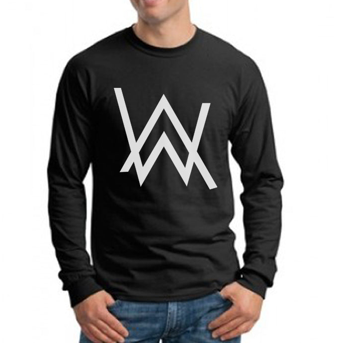 0bf63afdb 24.50 USD Alan Walker WHITE Ink On Front Long Sleeve T-shirt for Men - Meh.