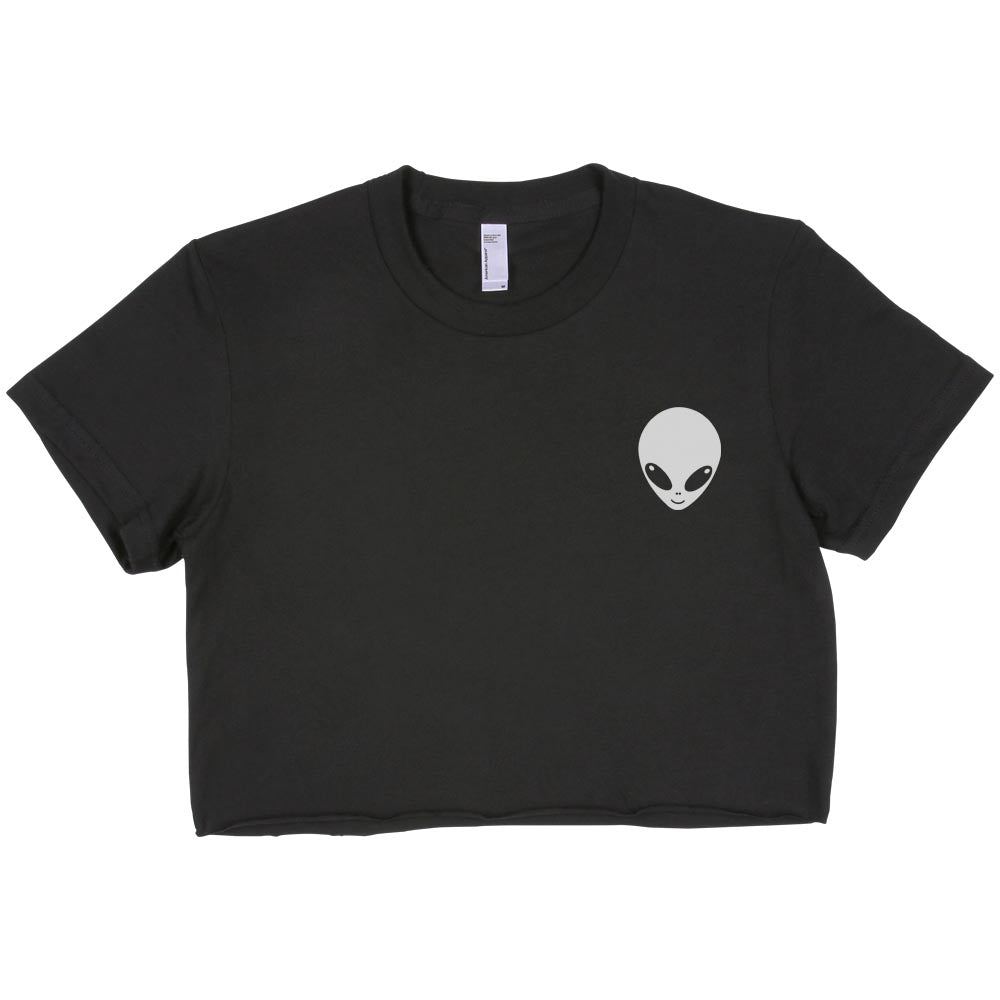 Alien Pocket Crop Top Tee