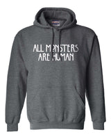 All Monsters Are Human Unisex Pullover Hoodie - Meh. Geek - 3