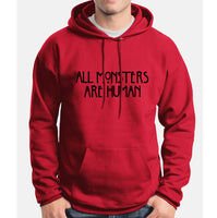 All Monsters Are Human Unisex Pullover Hoodie - Meh. Geek - 1