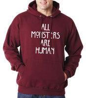 All Monsters Are Human NEW Unisex Pullover Hoodie - Meh. Geek - 6
