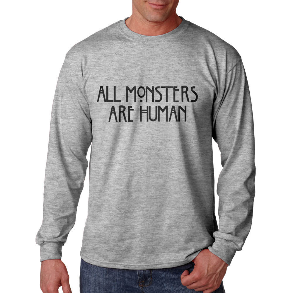 All Monsters 1 Are Human Long Sleeve T-shirt for Men - Meh. Geek - 3