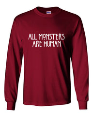 All Monsters 1 Are Human Long Sleeve T-shirt for Men - Meh. Geek - 1