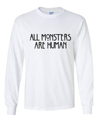All Monsters 1 Are Human Long Sleeve T-shirt for Men - Meh. Geek - 4