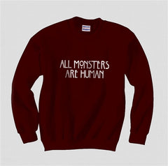 All MONSTERS 1 Are Human Unisex Crewneck Sweatshirt - Meh. Geek - 4