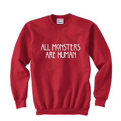 All MONSTERS 1 Are Human Unisex Crewneck Sweatshirt - Meh. Geek - 1