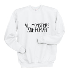 All MONSTERS 1 Are Human Unisex Crewneck Sweatshirt - Meh. Geek - 6