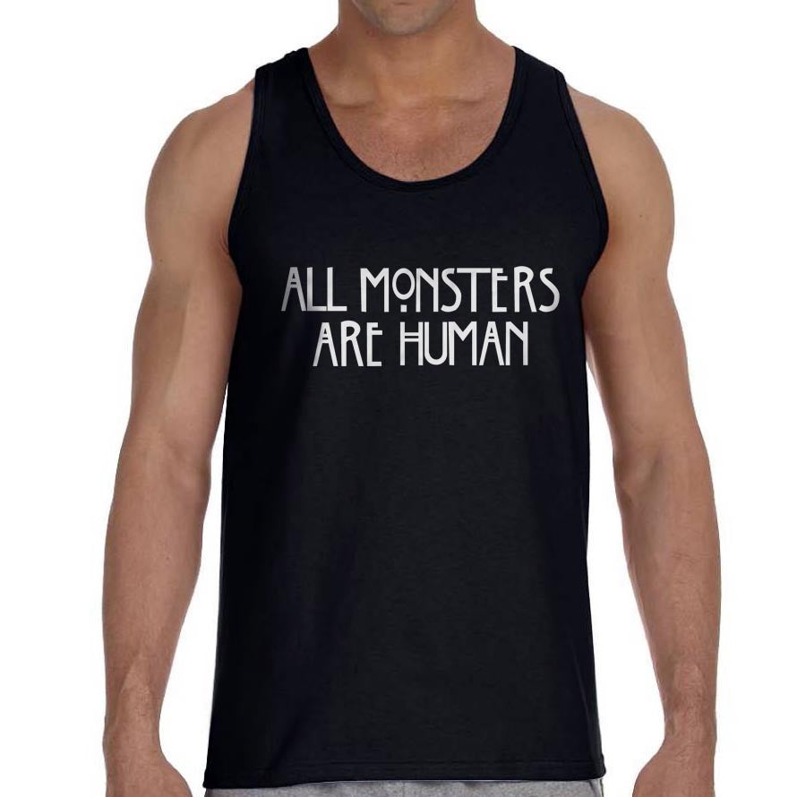 All Monster 1 Are Human Men Tank Top - Meh. Geek - 1