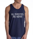 All Monster 1 Are Human Men Tank Top - Meh. Geek - 3