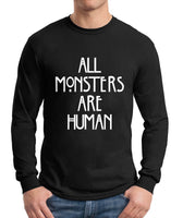 All Monsters Are Human NEW Long Sleeve T-shirt for Men - Meh. Geek - 2