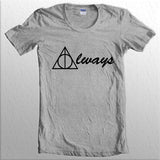 Always Deathly Hallows Harry potter Unisex Women T-shirt - Meh. Geek
