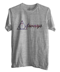 Always Deathly Hallows Nebula Harry potter Unisex Men T-shirt Heather - Meh. Geek