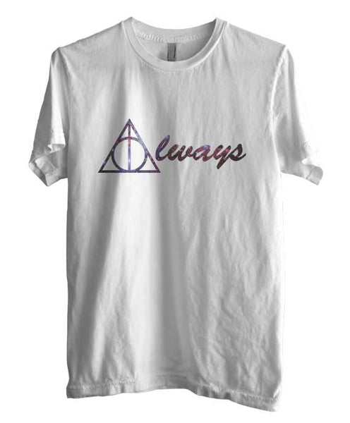 Always Deathly Hallows Nebula Harry potter Men T-shirt White