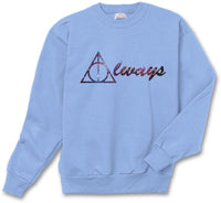Always Deathly Hallows Nebula Harry potter Unisex Crewneck Sweatshirt (Adult)