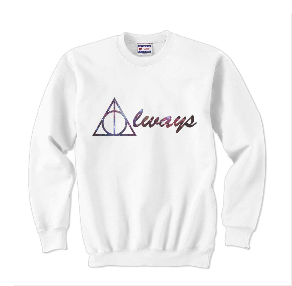 Always Deathly Hallows Nebula Harry potter Unisex Crewneck Sweatshirt - Meh. Geek