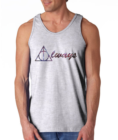 Always Deathly Hallows Nebula Harry potter Unisex Men Tank Top - Meh. Geek