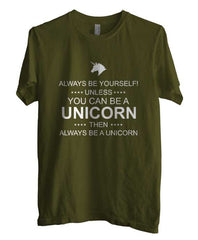 Always Be Yourself Unless You Can Be A Unicorn White Ink Unisex Men T-shirt - Meh. Geek - 3