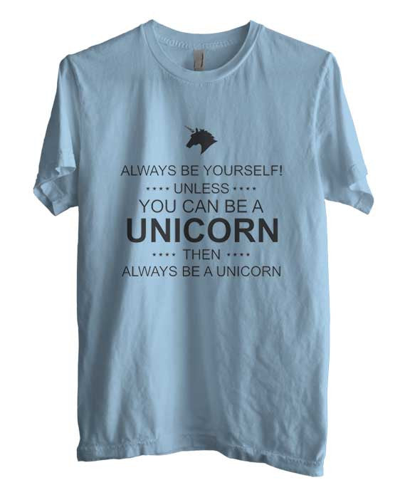 Always Be Yourself Unless You Can Be A Unicorn black Ink Unisex Men T-shirt - Meh. Geek - 2