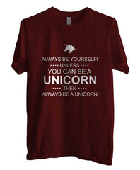 Always Be Yourself Unless You Can Be A Unicorn White Ink Unisex Men T-shirt - Meh. Geek - 1