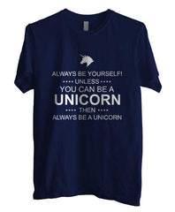 Always Be Yourself Unless You Can Be A Unicorn White Ink Unisex Men T-shirt - Meh. Geek - 4