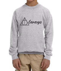 Always Deathly Hallows Kid / Youth Crewneck Sweatshirt