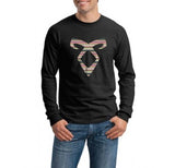 Angelic Power Runes BOHO Long Sleeve T-shirt for Men - Meh. Geek - 1