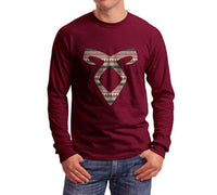 Angelic Power Runes BOHO Long Sleeve T-shirt for Men - Meh. Geek - 2