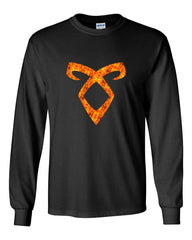 Angelic Power Runes FIRE Long Sleeve T-shirt for Men - Meh. Geek - 2