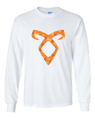 Angelic Power Runes FIRE Long Sleeve T-shirt for Men - Meh. Geek - 5
