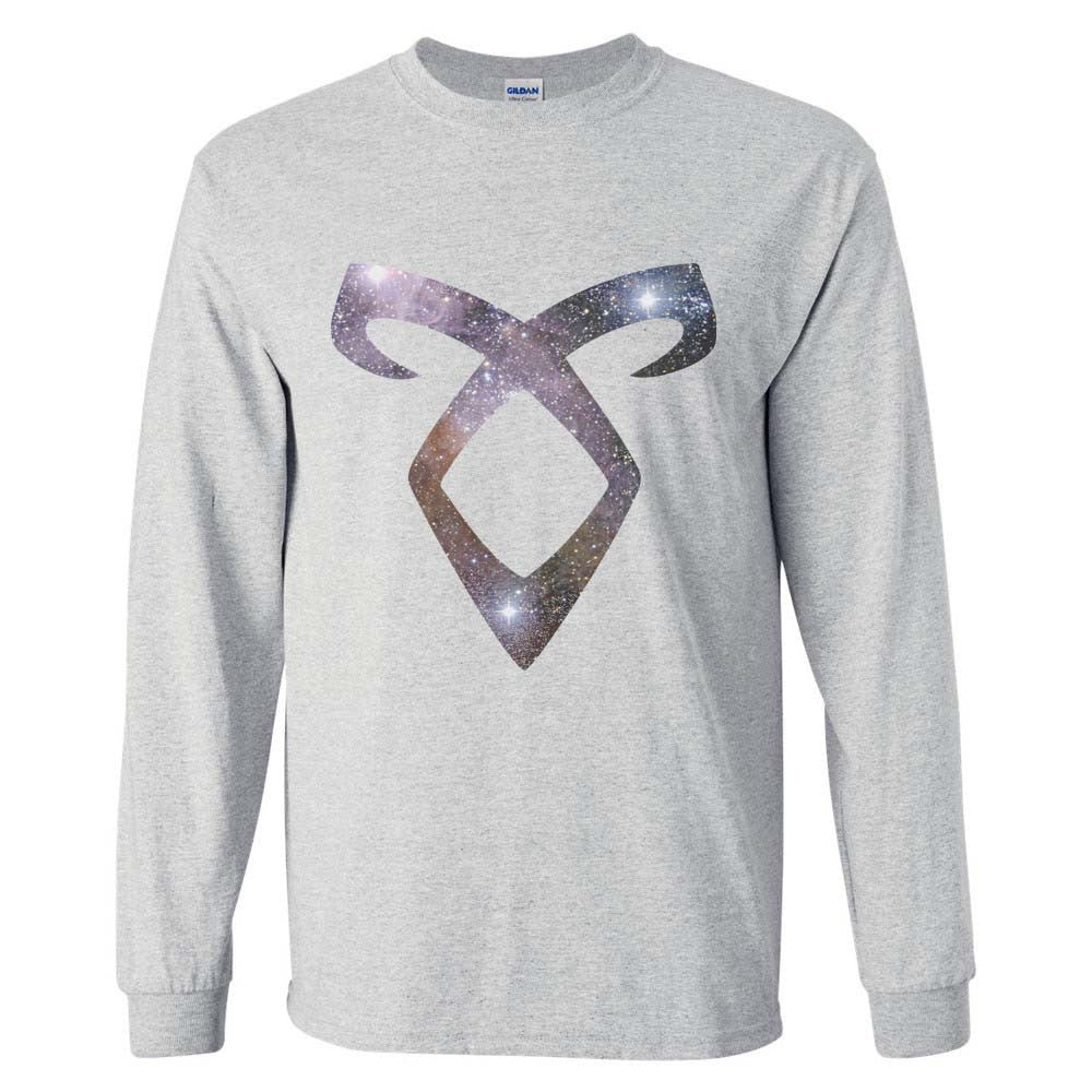 Angelic Power Runes GALAXY Long Sleeve T-shirt for Men - Meh. Geek - 1
